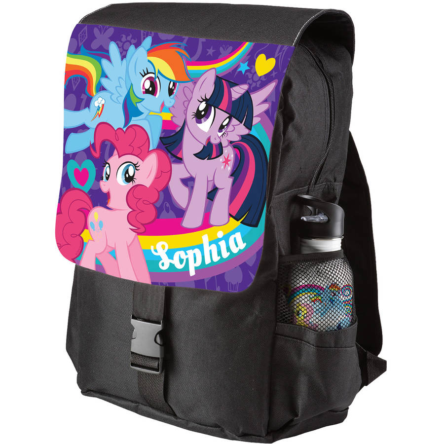 Personalized My Little Pony Pony Pals Black Backpack