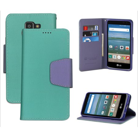 MINT PURPLE WALLET CREDIT CARD ID CASH CASE FOR LG OPTIMUS ...