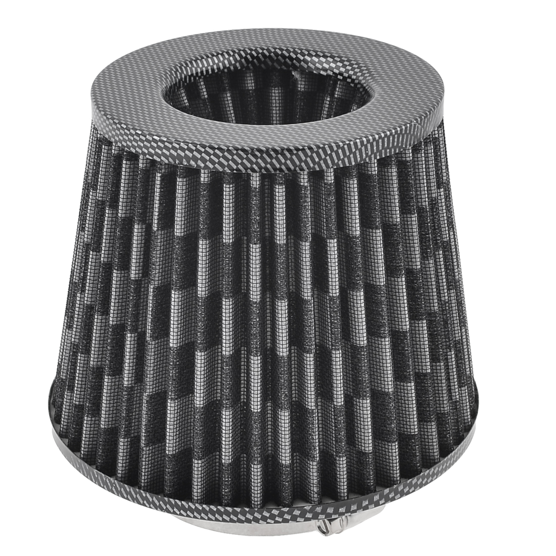 "Unique Bargains Vehicle Car Black White 76mm 3"" Inlet Dia Air Intake Round Filter - image 7 of 7"