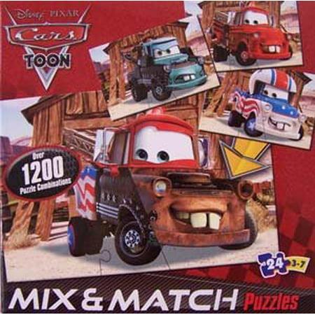 Disney Pixar Cars Mix 'n Match 24 pc Puzzle (Mattel Puzzle)
