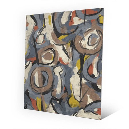 Scribble Scrabble Paper - Click Wall Art 'Scribble Scrabble' Print of Painting on Metal