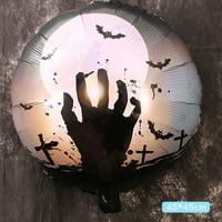 10PCS Halloween Pumpkin Halloween 18 Inch Aluminum Film Balloon