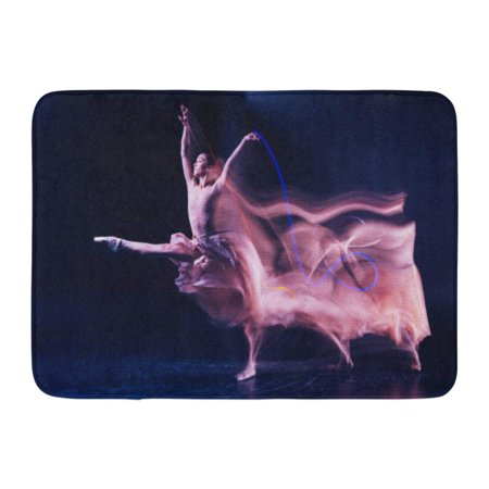 GODPOK Grace and Elegance Beautiful Gracious Skillful Woman Standing on Stage and Doing Some Dance Movements Rug Doormat Bath Mat 23.6x15.7 (Wired Dance Mat)