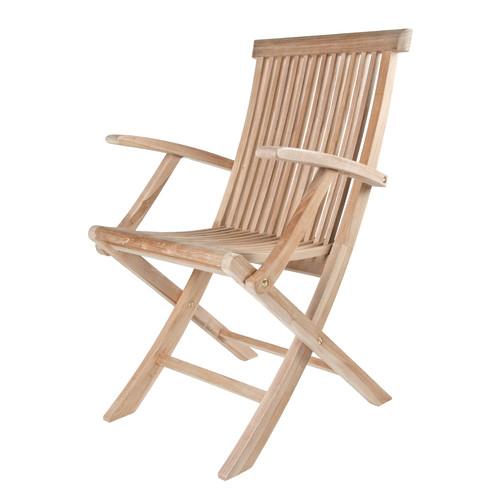 Arbora Teak Solid Teak Classic Folding Patio Dining Chair (Set of 2) by Arbora Teak