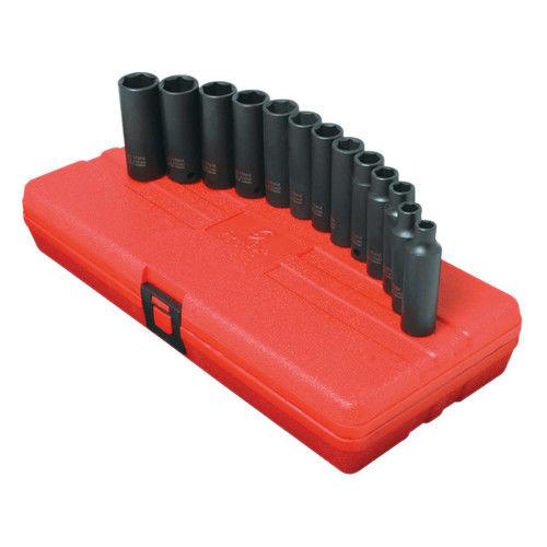 Sunex 3359 13-Piece 3/8 in. Drive Metric Deep Impact Socket Set