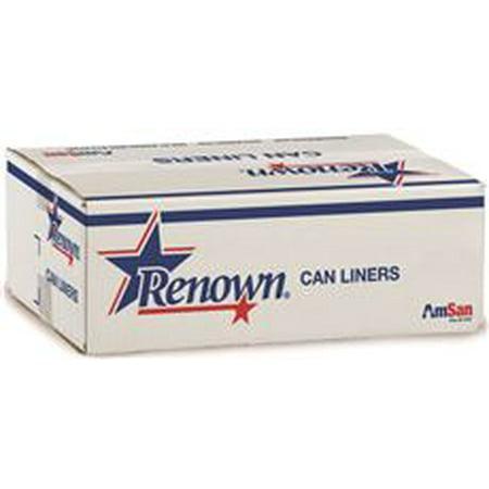 Renown Can Liner 40 X 48 45Gl 12 Mic Natural 25/Rl