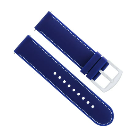 22MM RUBBER DIVER WATCH BAND STRAP FOR OMEGA SEAMASTER PLANET OCEAN BLUE WS Seamaster Planet Ocean Rubber Strap
