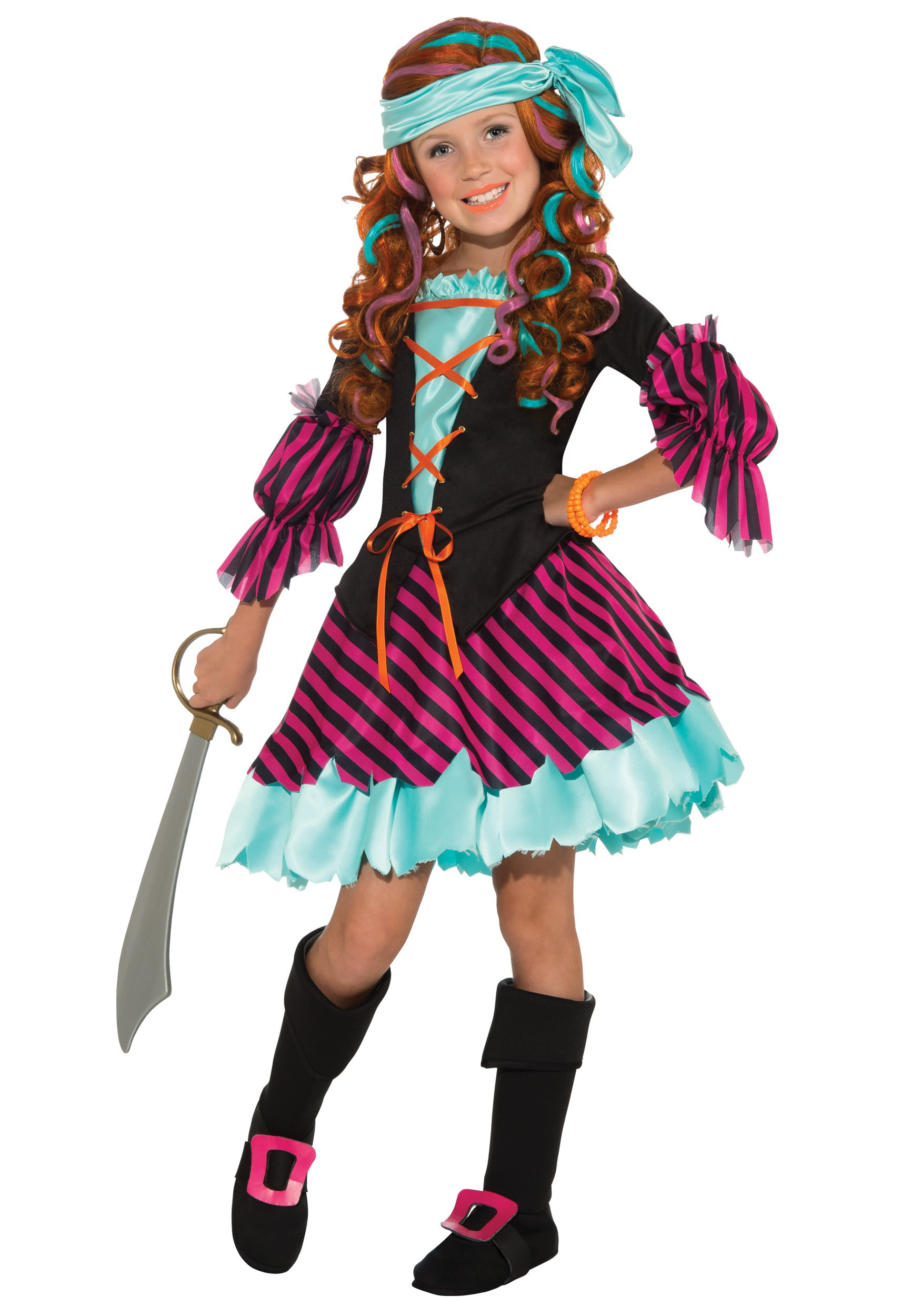 sc 1 st  Walmart & Salty Taffy Girls Pirate Costume - Walmart.com