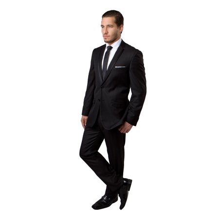 Mens Two Piece Notch Lapel With Satin Trim - 40s Outfits