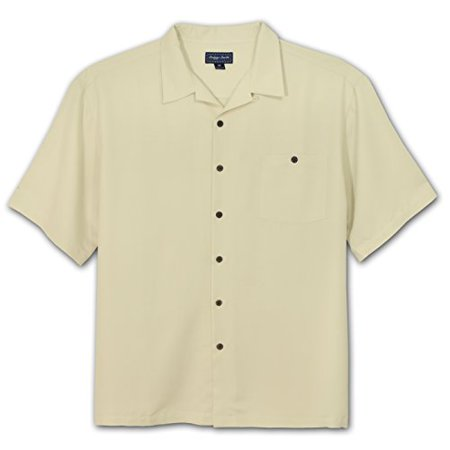 Rayon Cream - Indygo Smith Big and Tall Rayon Camp Shirt (CREAM 2X)