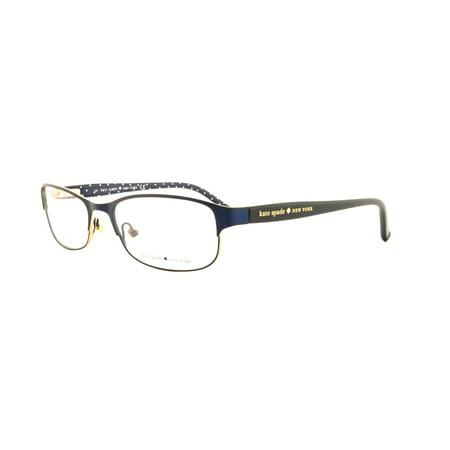 KATE SPADE Eyeglasses AMBROSETTE 0DA4 Satin Navy Dots 52MM