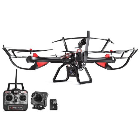 Dynamic Aerial Systems X4 Venom 4CH 6-Axis Gyro 2.4ghz RC Remote Control Quadcopter Drone with GoPro Mount,... by