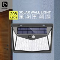 IClover Wall Pack LED Solar Power PIR Motion Sensor Wall Light Outdoor Garden Path Security Lamp 208LED
