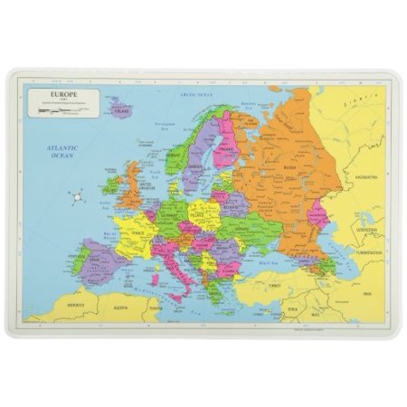 Painless Learning Europe Map Placemat