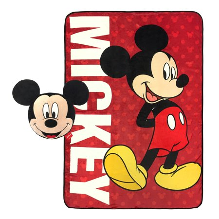 Disney Mickey Mouse Classic Nogginz and Blanket Set by - Classic Mickey Mouse