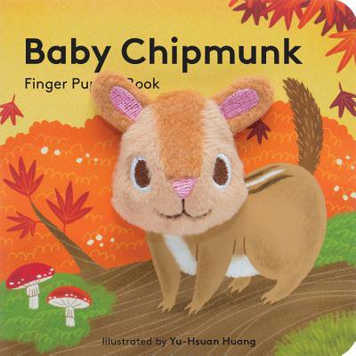 Baby Chipmunk Finger Puppet Book (Board Book) - Chipmunk Ears