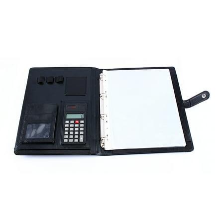 professional business zippered portfolio padfolio folder a4 pu leather document case organizer. Black Bedroom Furniture Sets. Home Design Ideas