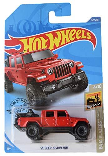 2020 HOTWHEELS  '20 Jeep Gladiator  Red Baja Blazers 4//10 Free Shipping Lot of 2