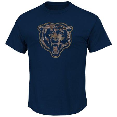 Majestic Chicago Bears Camo Tek Patch Mens Navy Shirt  Medium