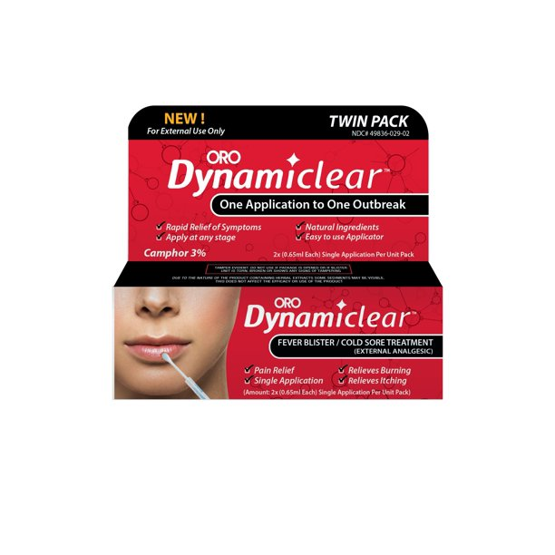 Dynamiclear Rapid Relief Twin Pack Fever Blister/Cold Sore Treatment