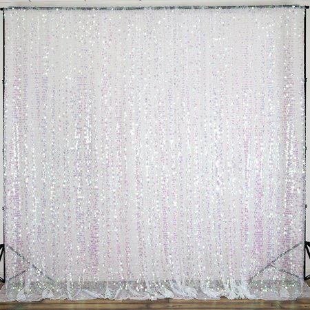 BalsaCircle 20 feet x 10 feet Big Payette Sequin Backdrop Curtain - Wedding Party Photobooth Ceremony Event Photo Decorations](Black And White Football Curtains)
