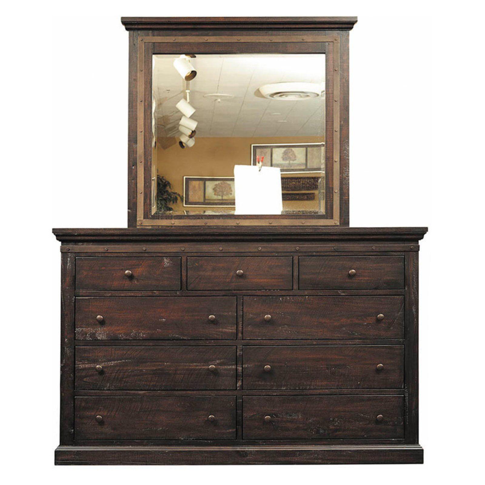 A-America Jackson 9 Drawer Dresser with Optional Mirror