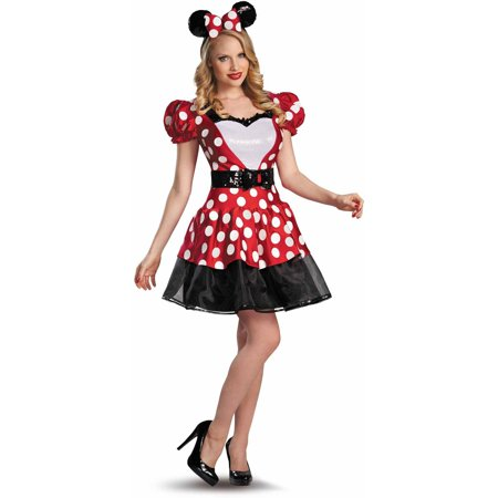 Red Minnie Glam Women's Adult Halloween Costume - Minnie Mouse Halloween Costume Adult