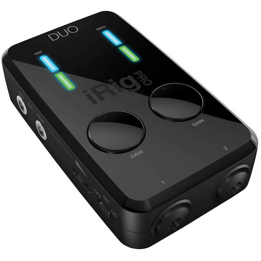 iRig Pro Duo 2-Channel Audio/MIDI Interface for Apple iPhone, iPad, Mac and PC