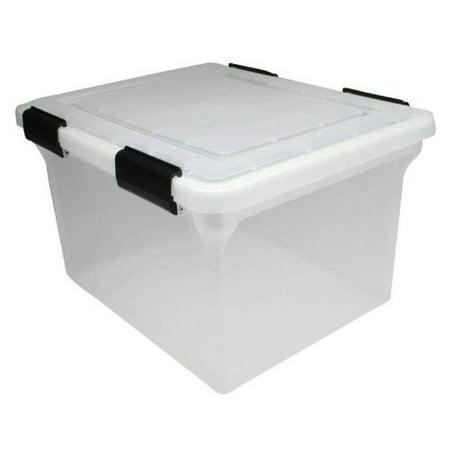 I R I S Watertight Clear File Box   14 5  Height X 17 9  Width X 10 9  Depth External Dimensions   Clear   File  Irs110600