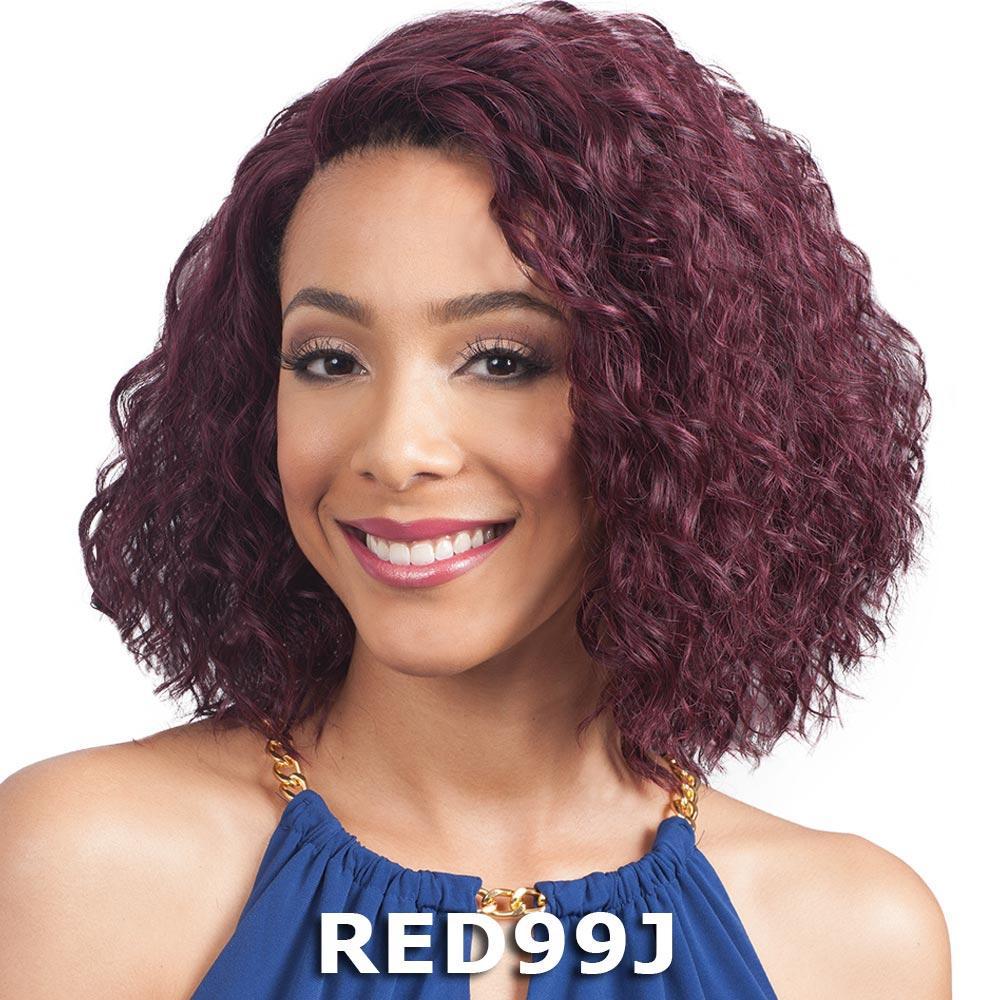 """BobbiBoss 3.5"""" Deep J-Part Lace Front Wig - MLF175 HANNAH (613A)"""