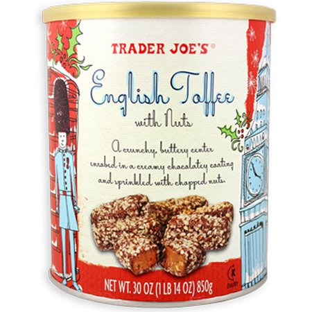 Trader Joe's English Toffee with Nuts 1 lb. 14 Oz. (Pack of 2)