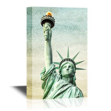 - wall26 - Canvas Wall Art - Ny Statue of Liberty - Gallery Wrap Modern Home Decor | Ready to Hang - 32x48 inches