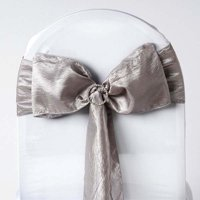 Efavormart 5pc x Taffeta Crinkle Sash for Wedding Events Banquet Decor Chair Bow Sash Party Decoration Supplies
