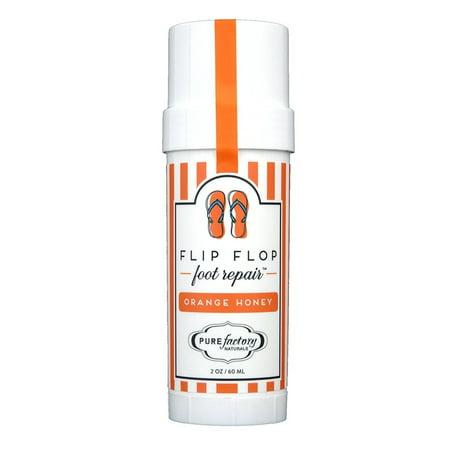 Pure Factory Flip Flop Foot Repair Orange Honey Moisturizer Feet 2oz ()
