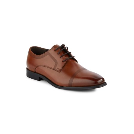 Rib-Trim Leather Derby Shoes - Kenneth Cole Infant Shoes