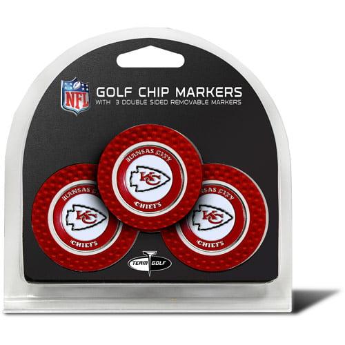 Team Golf NFL Kansas City Chiefs 3 Pack Golf Chip Ball Markers
