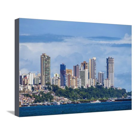 City seen from the Bay of All Saints, Salvador, State of Bahia, Brazil, South America Stretched Canvas Print Wall Art By Karol Kozlowski - Party City South Bay