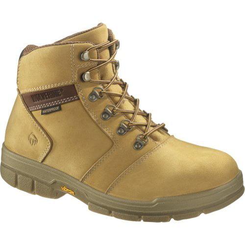 "Men's Wolverine® Barkley DuraShocks® Waterproof Insulated 6"" Steel-Toe EH Work Boot (11 M in Gold Nubuck)"