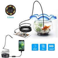 Peroptimist Endoscope Camera, Borescope USB Inspection Camera HD Waterproof Snake Camera with 6 Adjustable Led Light for Android Smartphone 16.4ft