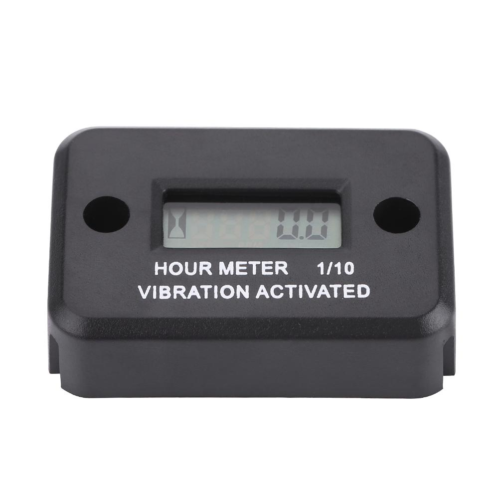 Digital Vibration Hour Meter Gauge for All Vibrating Machine Motorcycle ATV Boat Marine Black