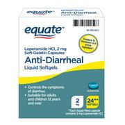 Equate Anti-Diarrheal Liquid Softgels, 2 mg, 24 count