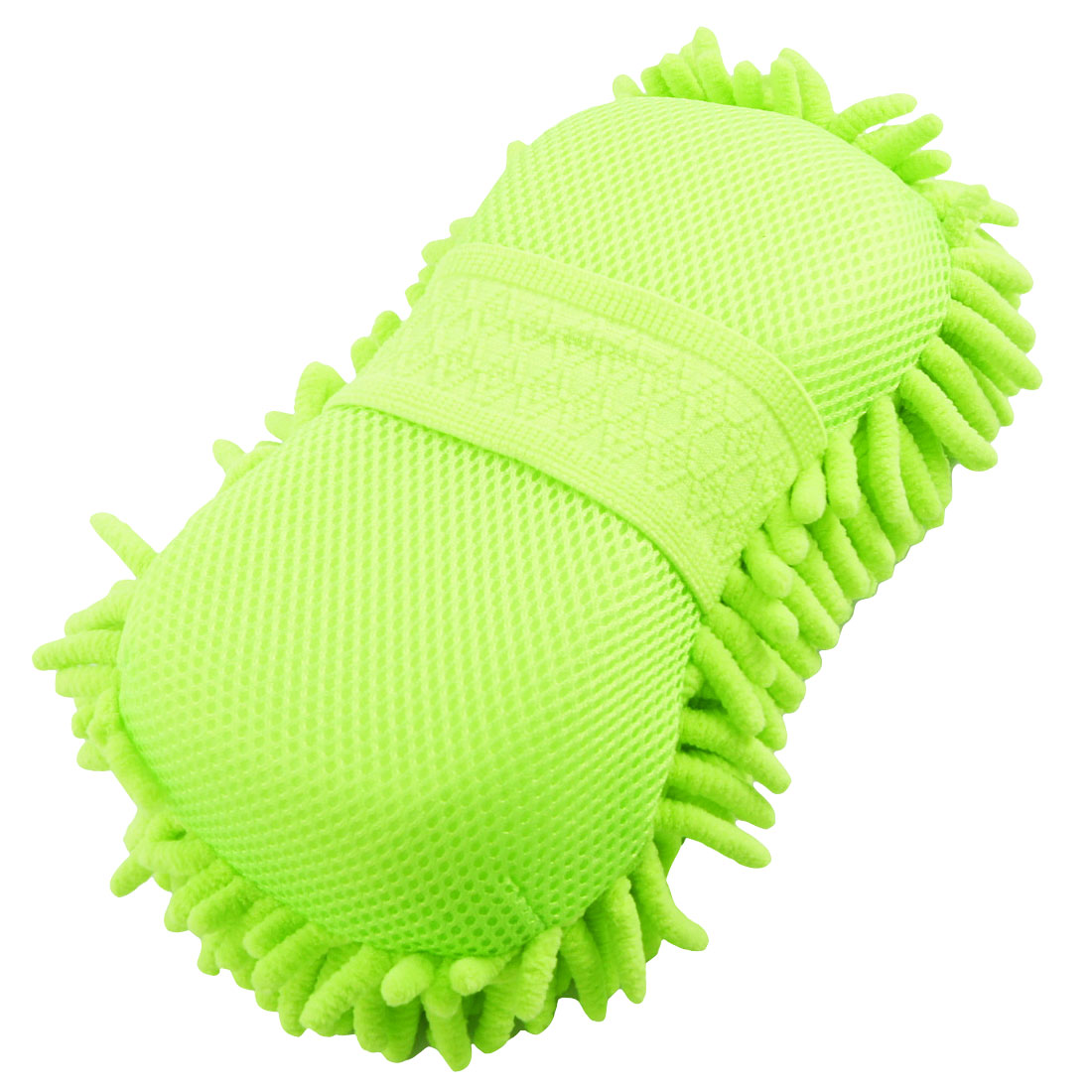 Yellow Green Microfiber Cleaning Sponge Pad for Car Vehicles