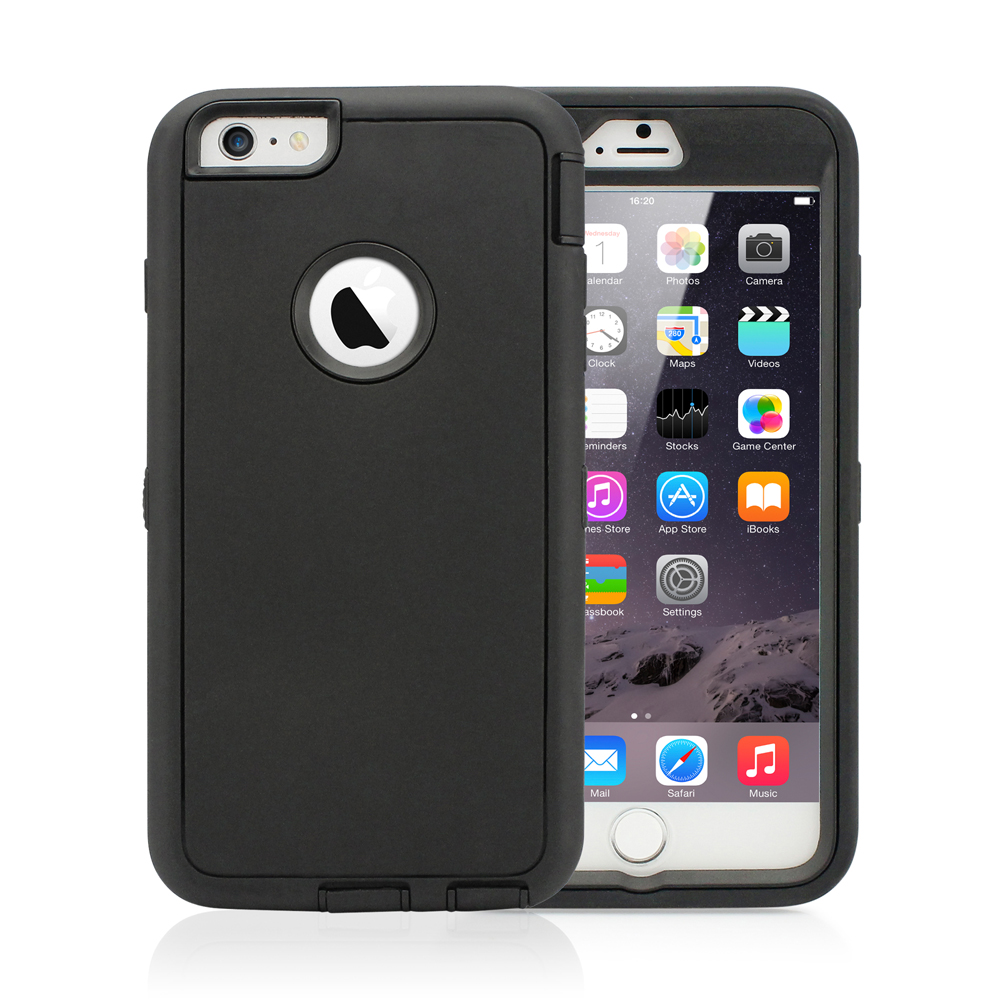 Heavy Duty Hybrid Shockproof Dirt Dust Proof Durable Rugged Hard PC + Silicone Case Cover for Apple iPhone 6 Plus 5.5""