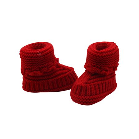(Babula Newborn Baby Infant Handmade Crochet Knit Booties Casual Crib Shoes)