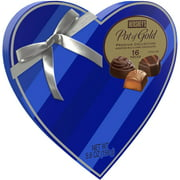 Hershey's Pot of Gold Premium Valentine's Blue Heart Box with Assorted Milk & Dark Chocolate, 5.6 Oz., 16 Count