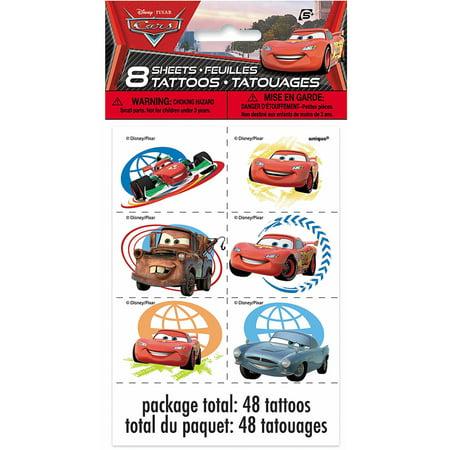 Disney Cars, Tattoos 48ct