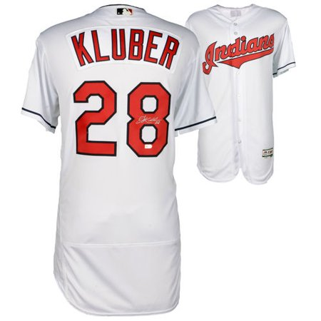 Corey Kluber Cleveland Indians Autographed Majestic White Authentic Jersey