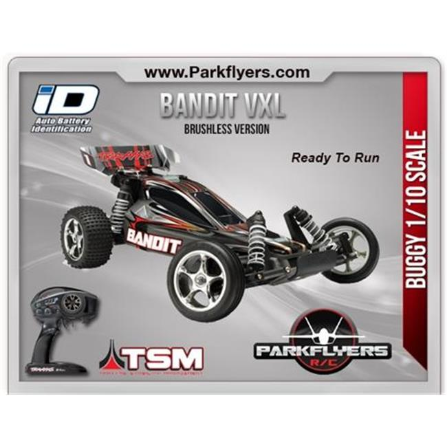 ParkFlyers 24076-3 Traxxas 1-10 Bandit VXL Buggy RTR with...