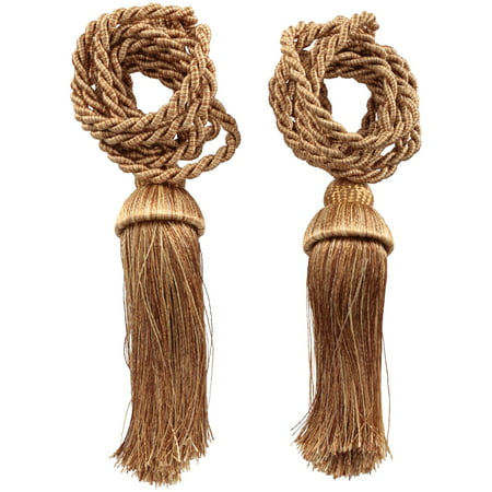 Mainstays Tassel Curtain Tie-Backs, 2-Pack (Fiber Tassel Pack)