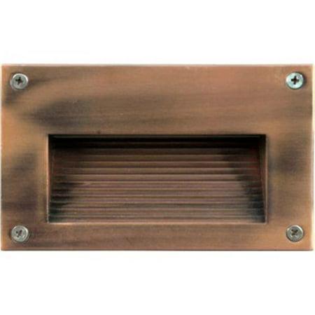 Acp Antique - Dabmar Lighting LV-LED655-ACP 1.8W & 12V 18 LEDs Recessed Cover Step Light - Antique Copper